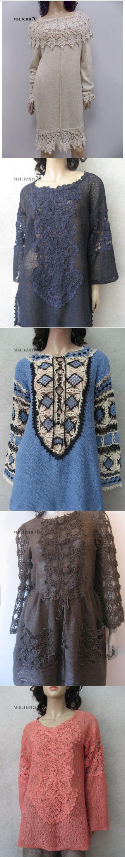 Вязание + ткань Замечательные модели от TALITA Соловьёва | Вязание крючком . | Постила
