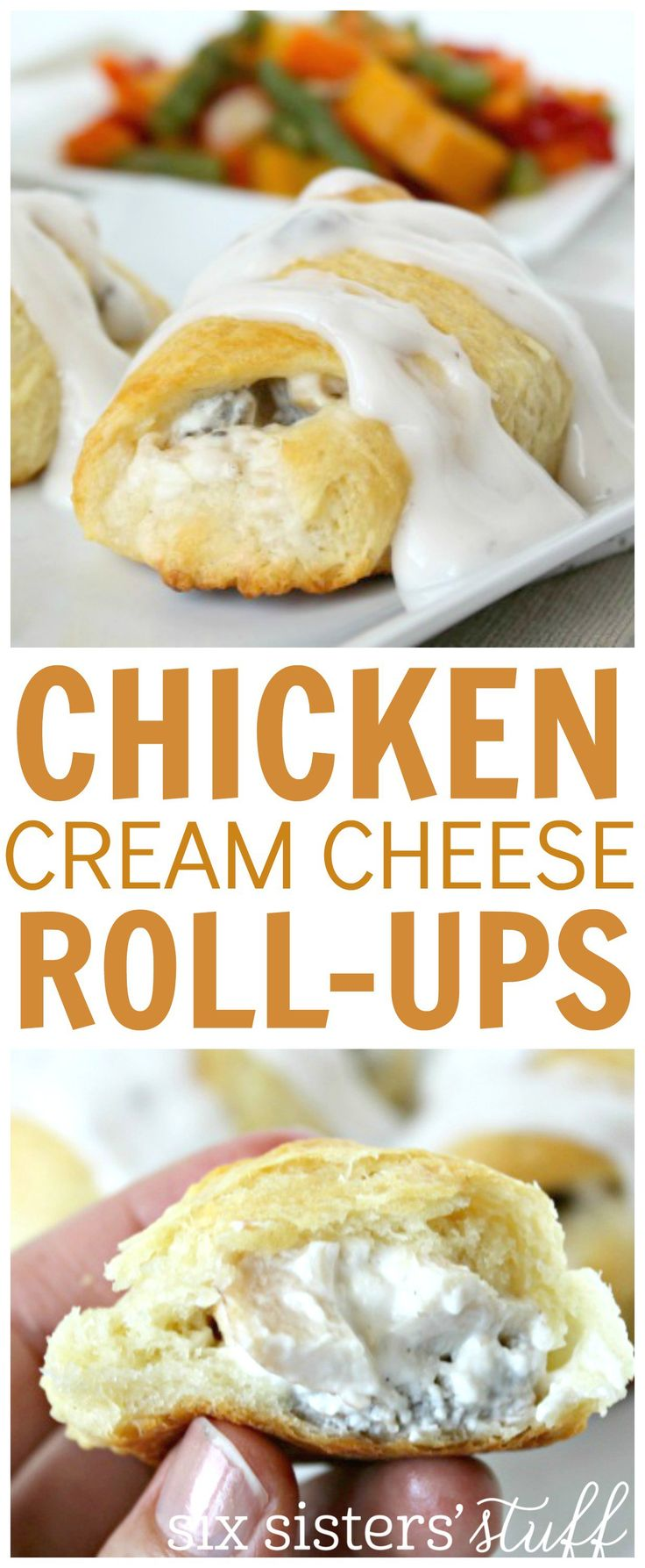 Chicken and cream cheese roll-ups 5