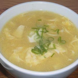 豆腐入り中華風コーンスープ+by+梅の実学園さん+ +レシピブログ+-+料理ブログのレシピ満載! 豆腐を入れた中華風のコーンスープ。
