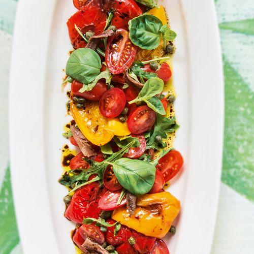 Italian cherry tomato & roasted capsicum salad