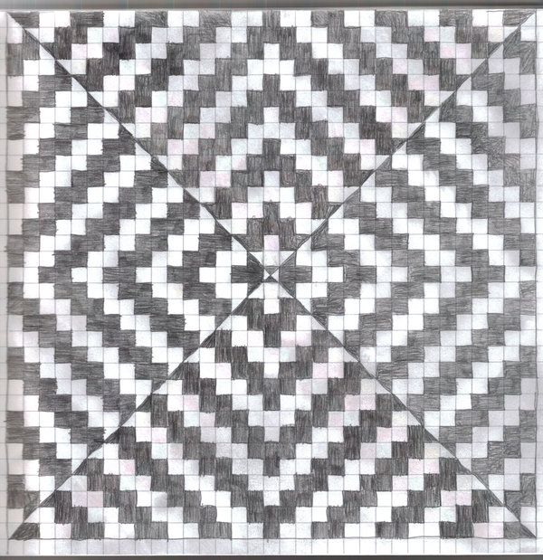 the lines appear to be moving in this graph paper 3 op art