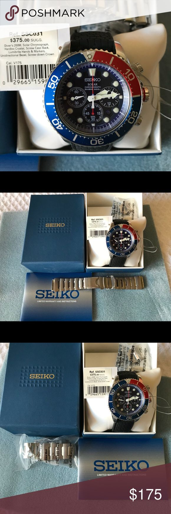 MAN SEIKO WATCH Man SEIKO watch like new .  Doesn't need battery, charges by the sun 🌞 💖💖💖 Seiko Accessories Watches