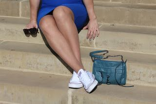 OOTD - Blue Skirt