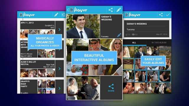 Flayvr: photo and video albums App for Android campaign