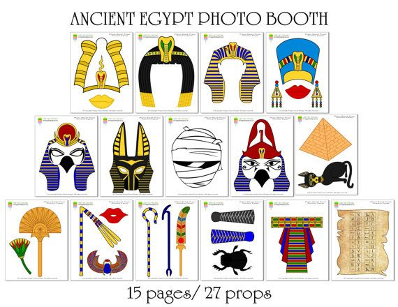 Ancient Egypt Civilization Photo Booth Props by HappyFiestaDesign