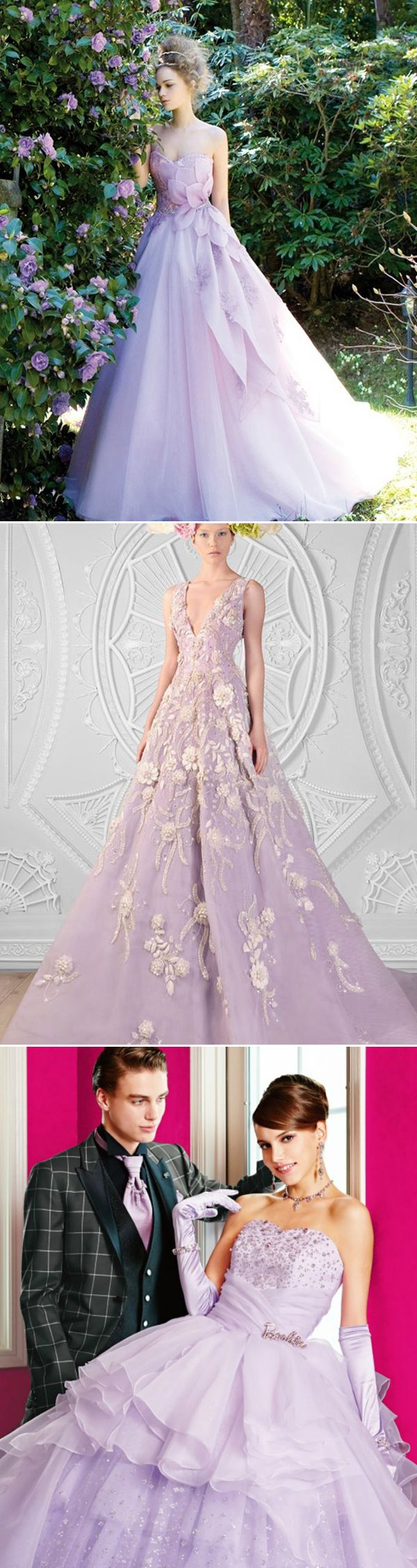 30 Oh-So-Romantic Pastel Wedding Dresses - Honey Lavender