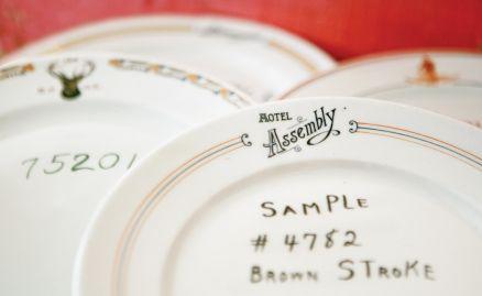 Fish & Eddy's: Fishs Eddy, Dinner Plates, Original Sample, Vintage Dinnerware