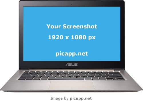 PicApp.net allows you to put your web app screenshot inside frame. You can easy put a screenshot in an Asus Zenbook with a single click on PicApp.net. The resulting image can be downloaded both in low and high resolution. #nobackground  #mock #asusZenbookUX305 #asus #silver