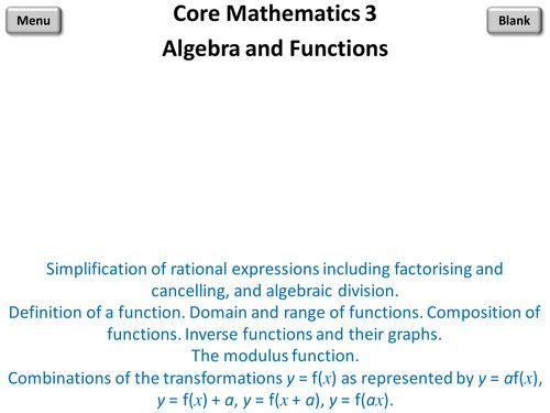 Core Mathematics 3 PowerPoint