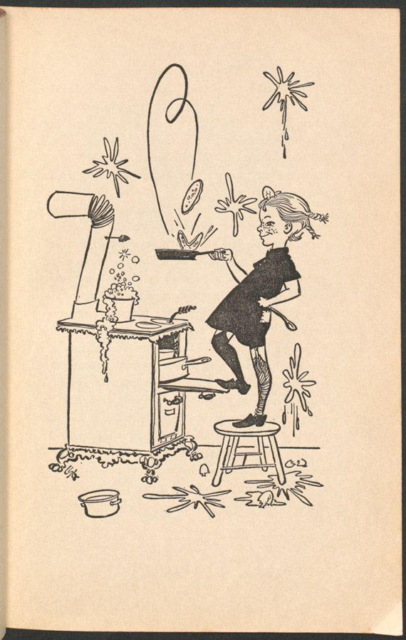 Astrid Lindgren. Pippi Longstocking. Illustrated by Louis S. Glanzman. New York: Viking Press, 1950.