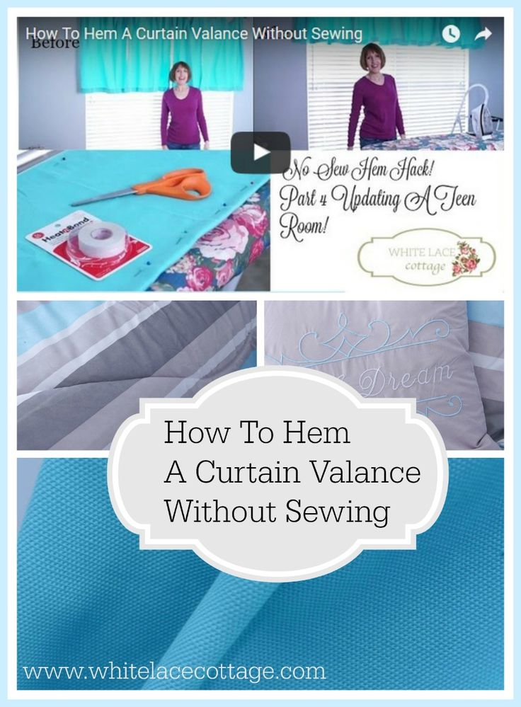 how to hem curtains without sewing lace cottages and need to. Black Bedroom Furniture Sets. Home Design Ideas