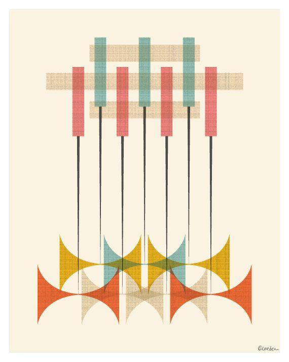 Mid Century Modern Pattern Print