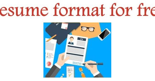 10 simple resume templates for freshers to download in ms