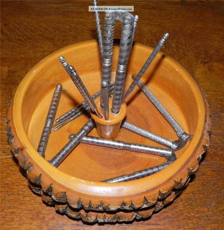 Vintage Wood Nut Bowl with Cracker. We had one of these