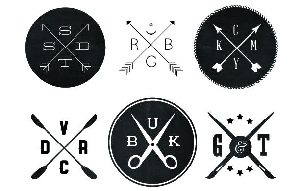 trending logo are crossed arrow brands of hipsters l