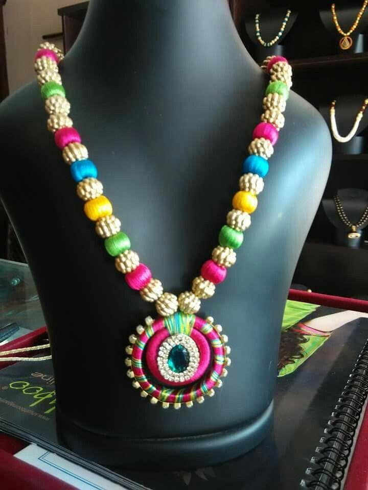 #Silk thread jewellery #cityfashions  To order plz WhatsApp +91 9703713779