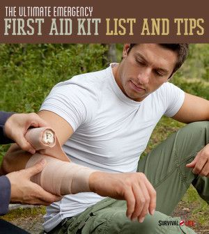 The Ultimate Emergency First Aid Kit List And Tips | Survival Skills & Preparedness Ideas By Survival Life http://survivallife.com/2014/04/22/emergency-first-aid-kit-list-and-tips/