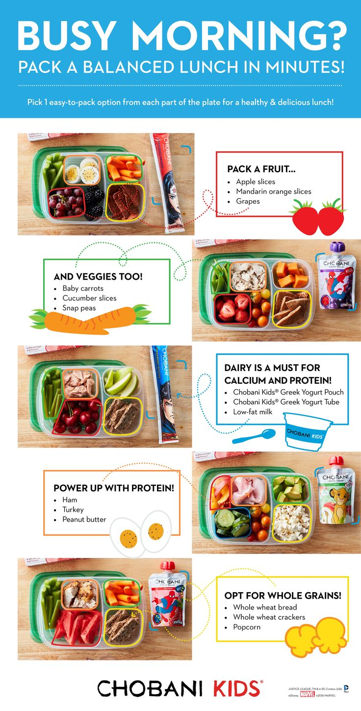 Save time packing lunch in the morning with these easy lunchbox tips! Reach for Chobani Kids and Chobani Tots Greek Yogurt Tubes & Pouches for an extra punch of protein for your little one.