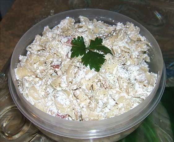 Turos Csusza - Dry-Curd Cottage Cheese and Noodles from Food.com:   								This is a Hungarian recipe that uses DRY cottage cheese. My mother would make this frequently as I grew up. Tastes great when eaten at a-little-warmer than room temperature.
