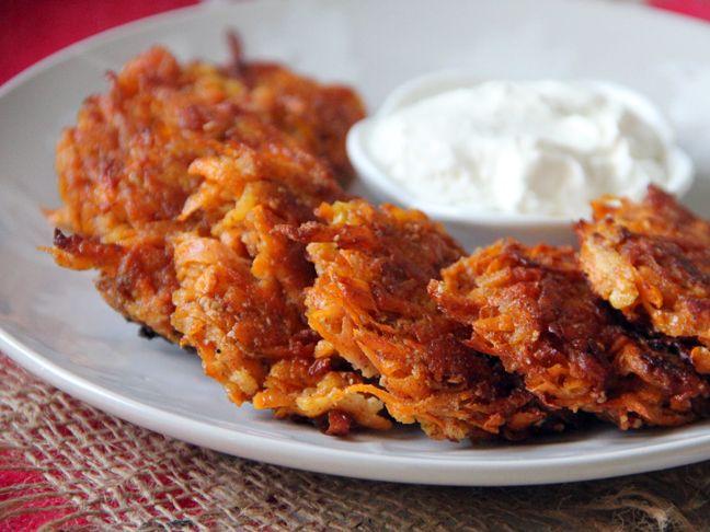 Cinnamon Sweet Potato + Apple Latkes Recipe - Momtastic