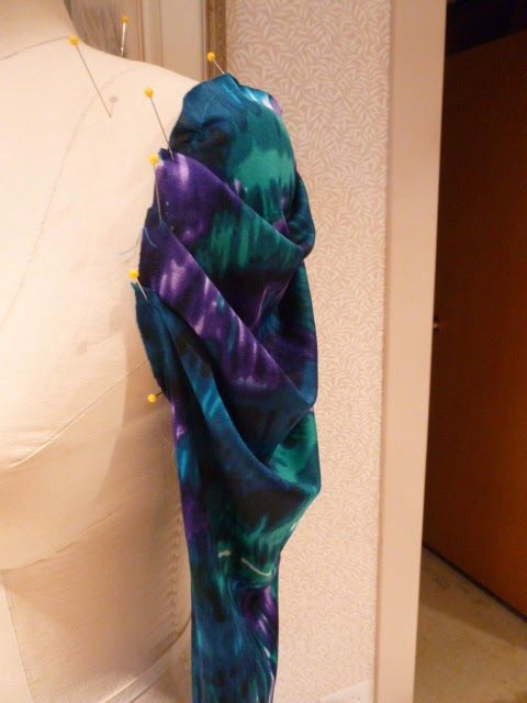 Drafting the Draped Pleated Sleeve