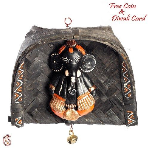 Terracotta Soop Ganesh hanging - Online Shopping for Diwali Pooja Accessories by Apno Rajasthan