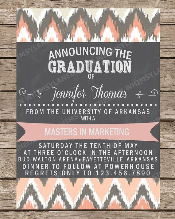 graduation announcement college graduation high school graduation