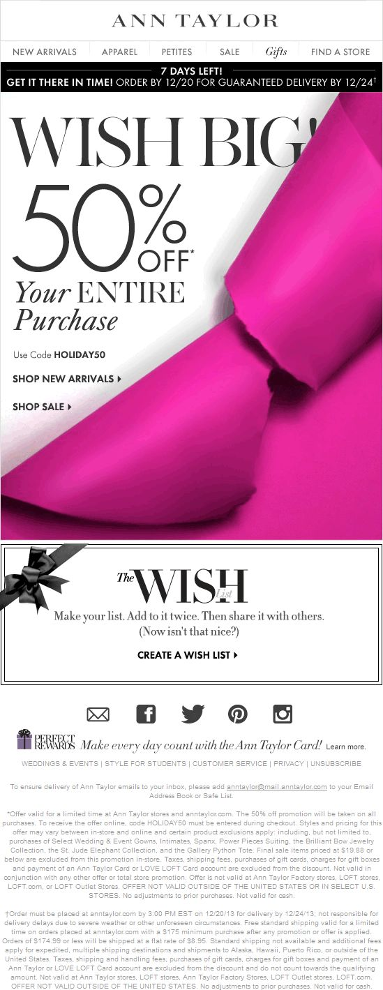 99 best coupon code images on pinterest coupon codes buy website ann taylor coupon ann taylor promo code from the coupons app everything is off at ann taylor or online via promo code january fandeluxe Gallery