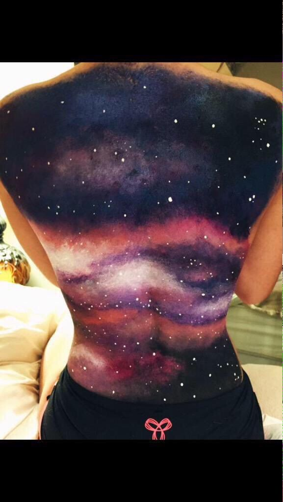Stardust* — I'm so obsessed with the idea of back paintings. I...