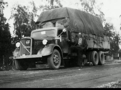 Big Volvo rig, driver Mr. Torsten Gustafsson