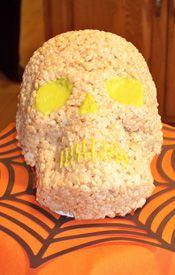 Rice Krispy skull. Happy Halloween....Happy Day of the Dead..Happy Rice Krispys Just Taste Good Day