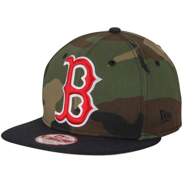 Boston Red Sox New Era Woodland Logo Grand Redux Original Fit 9FIFTY Adjustable Hat - Camo/Navy - $27.99
