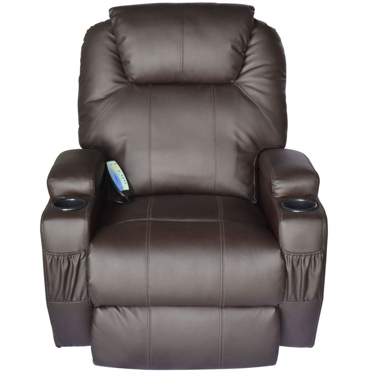 Lexington Deluxe Heated Vibrating Vinyl Leather Massage Recliner