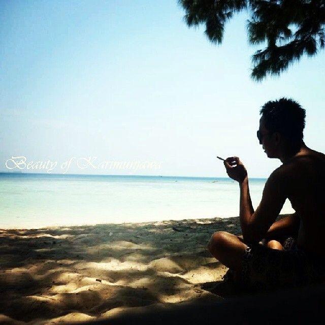 blue heavens.. location : Karimunjawa islands, Jepara, Indonesia  #beach #bluesea #bluesky #beautyful #marine #osean #whitesandy #sea #summer #holiday #sunset #nature #trip #karimunjawa #jepara #instanature #instasea #island #instabeach #Indonesia