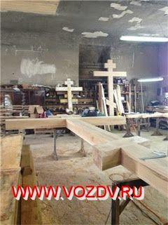 Деревянные кресты ручной работы - Изготовление и установка крестов в Москве: Крест поклонный