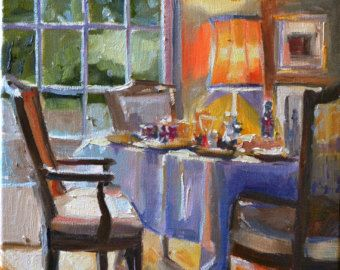 BREAKFAST TABLE Is A Print Of An Original Oil On Canvas Very Special Friend Dining Room This Interior Painting Embodies Everything I Enjoy