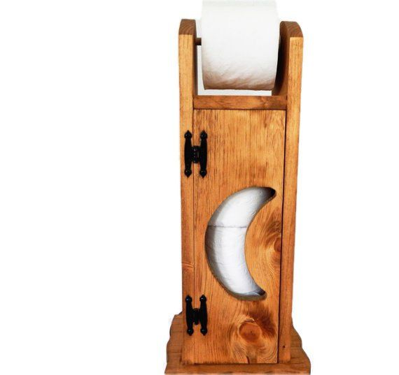 Toilet Paper Holder Outhouse Toilet Paper by SealsFamilyWoodworks
