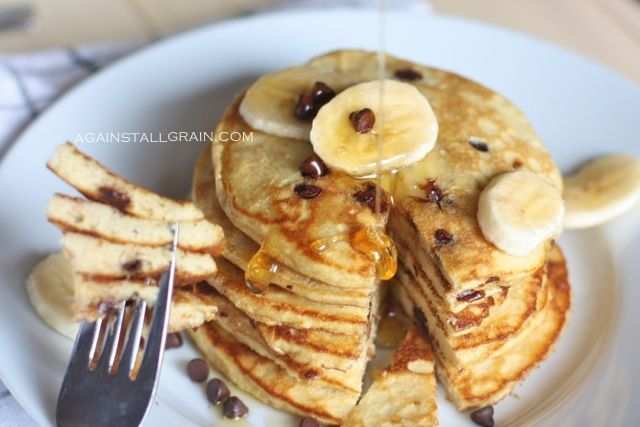 Grain-Free Paleo Chocolate Banana Pancakes - From Against All Grain!