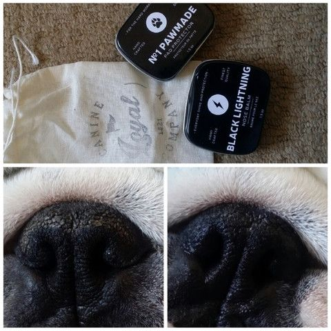 Black Lightning Nose Balm Before and After