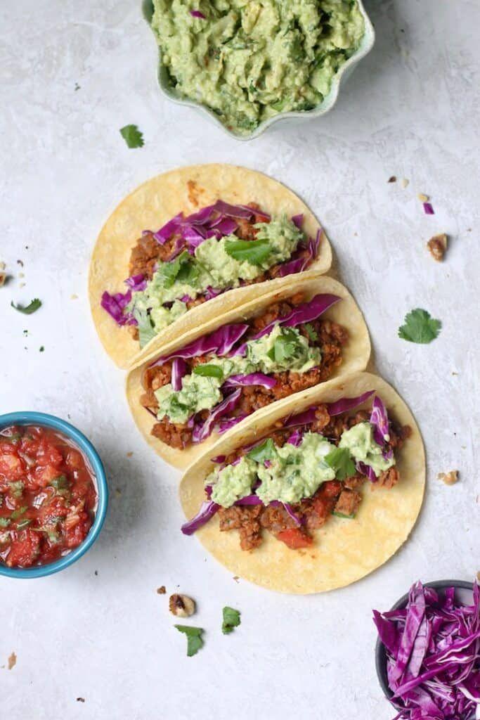 Vegan Chickpea Walnut Tacos Hummusapien Recipe In 2020 Vegetarian Recipes Healthy Healthy Vegetarian Meal Plan Recipes
