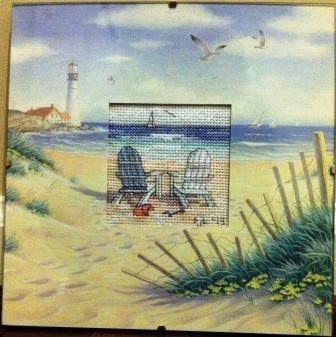 Completed Cross Stitch in Glass Beach Retreat by dannileifer, $24.99