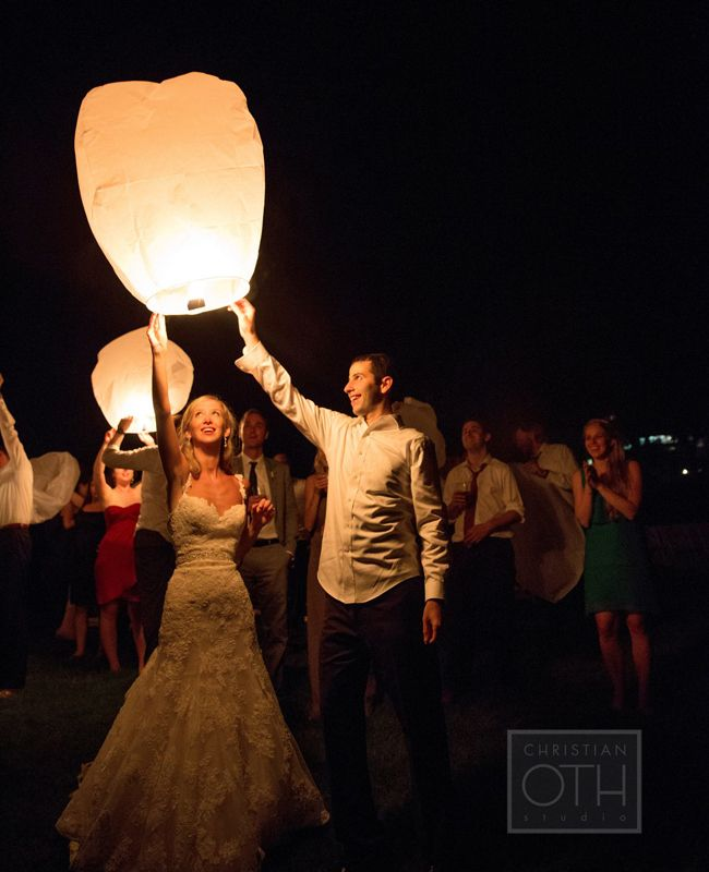 Chinese Wish Lanterns.  Photo: Christian Oth Studio // Featured: The Knot Blog