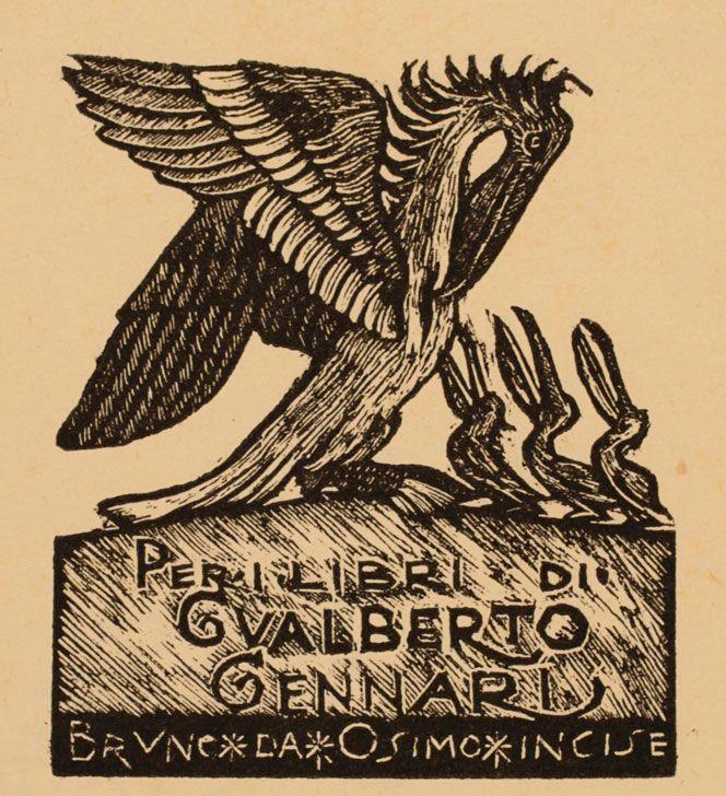 Ex Libris, Bruno da Osimo, per Gualberto Gennari