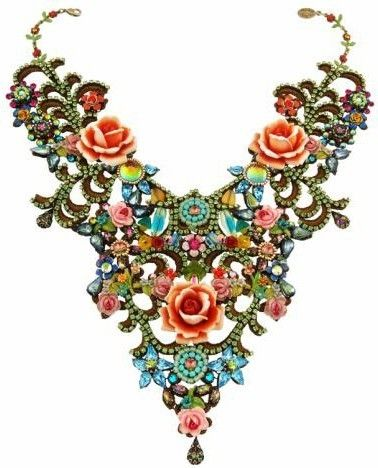 Michal Negrin Jewelry One Of A Kind Large Roses Necklace