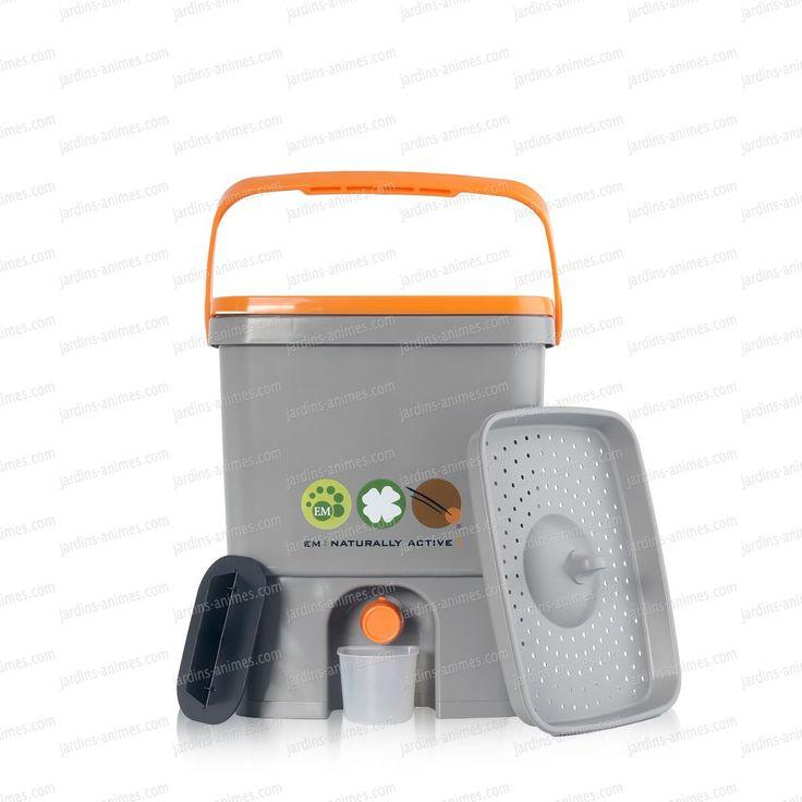 1 seau de cuisine vendu sans activateur, pour le compostage Bokashi aux micro organismes. L'activateur (son enrichi aux micro organismes) permet le...