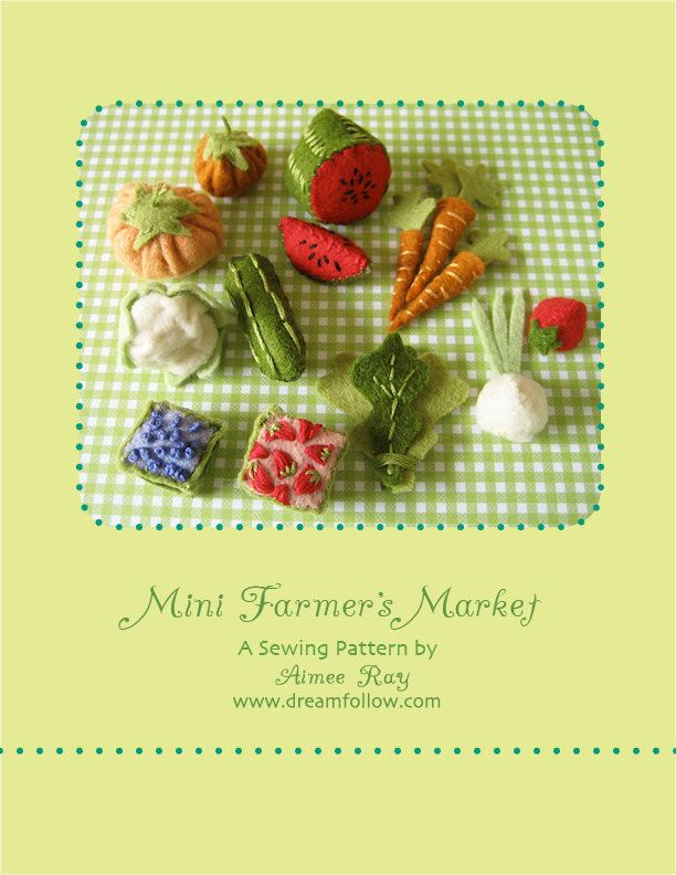 Mini Farmer's Market PDF pattern. via Etsy.