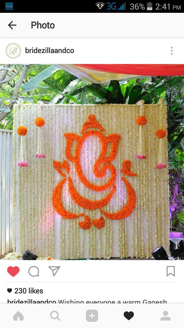 Simple yet elegent Hindu wedding decor.