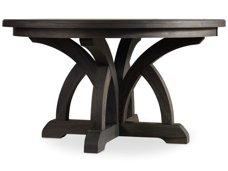 Corsica Round Dining Table With 1 18 Inch Leaf By Hooker Furniture