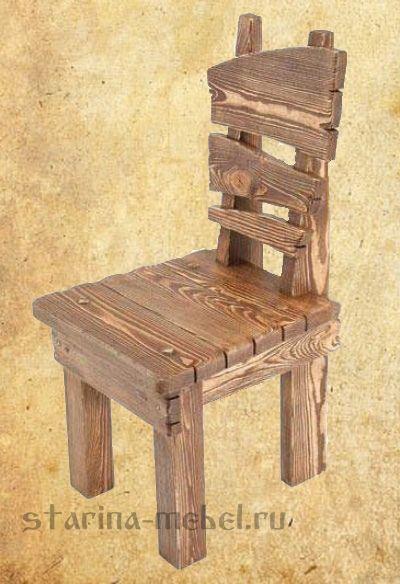 Стул под старину Деревенский #деревянные #стулья