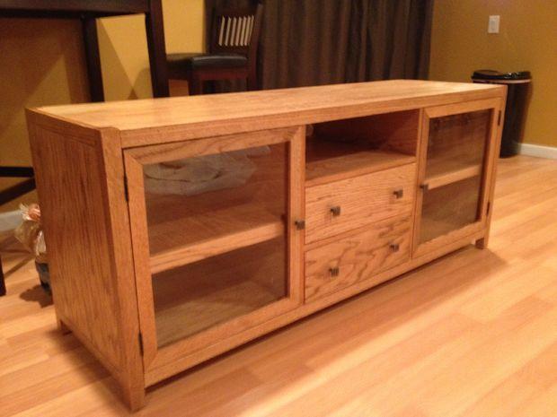 best 25 homemade tv stand ideas on pinterest. Black Bedroom Furniture Sets. Home Design Ideas